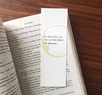 So this is love - Coffee stamped bookmark