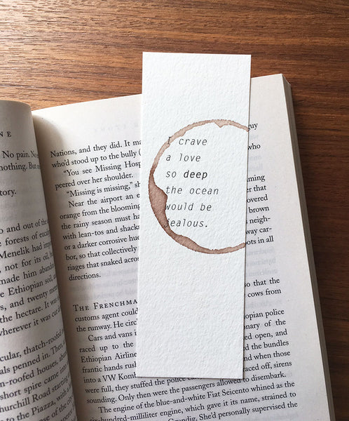 I crave a love - Wine stamped bookmark