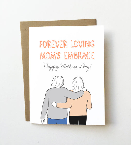 Mom's embrace - Cute Mother's day card
