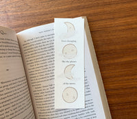 Ever changing - Moon art bookmark - NEW