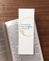 Empowerment - Coffee stamped bookmark