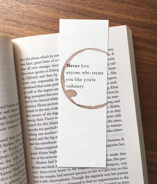 Self love - Wine stamped bookmark