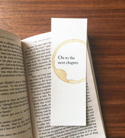 Next chapter - Coffee stamped bookmark
