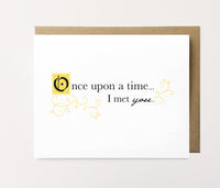 Once upon a time - Love card