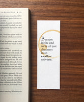 We're all dreamers - Coffee Stamped bookmark