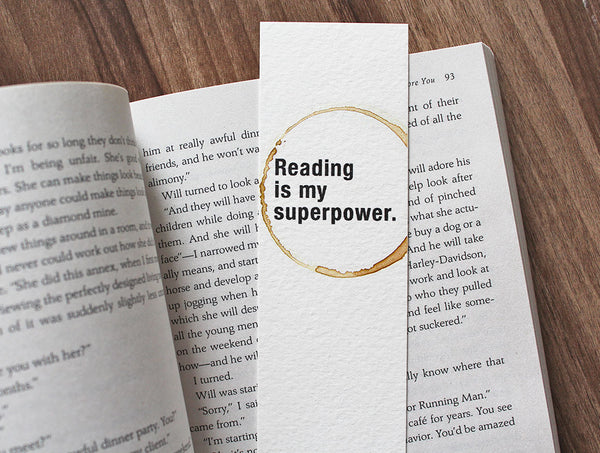 Superpower - Coffee stamped bookmark