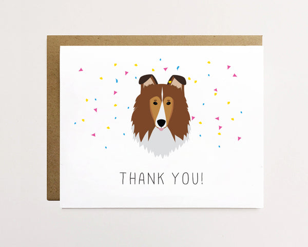 Sheltie - Cute thank you card