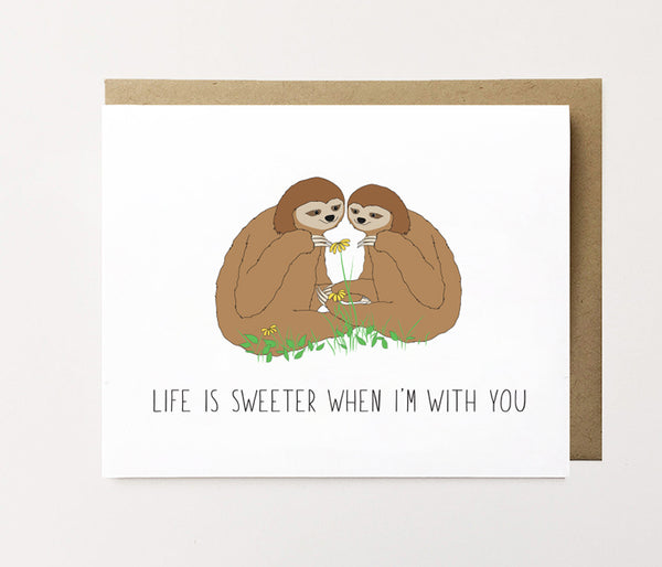 Life is sweeter with you - Cute anniversary card
