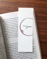 So it goes - Wine stamped bookmark