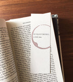 So many books - Stamped bookmark