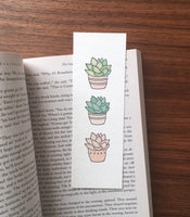 Succulents - Art bookmark