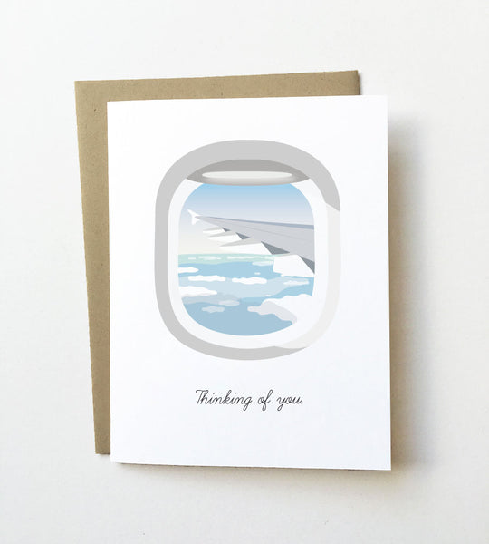Airplane window - Thinking of you card