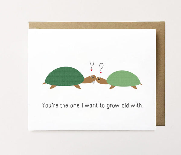Growing old with you - Cute anniversary card