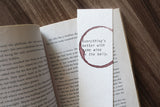 Wine in the belly - Funny wine stamped bookmark