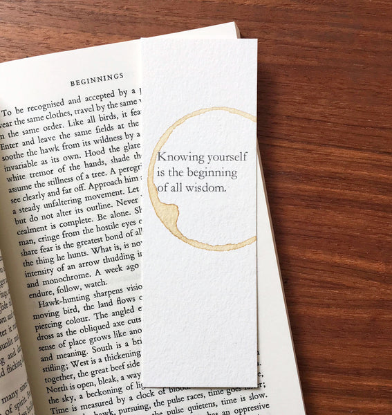 Wisdom - Coffee stamped bookmark