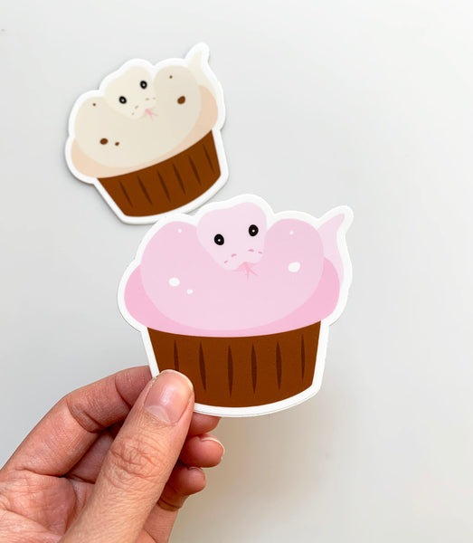 Cupcake Snake - Cute sticker - NEW