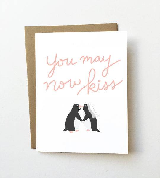 You may now kiss - Wedding congrats card