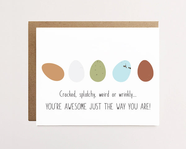 You're awesome eggs - Support Card - NEW