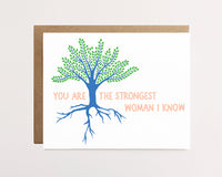 Strongest woman I know - Card for her - NEW