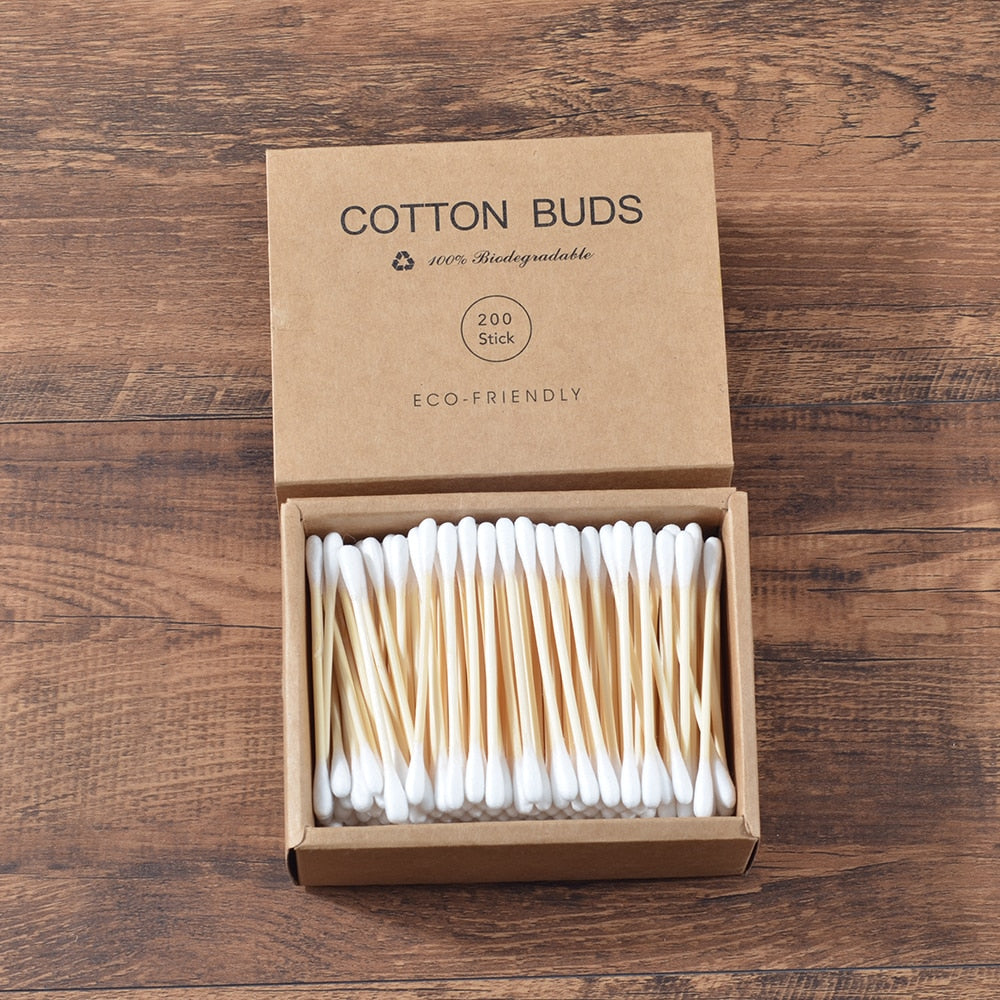 Coton-tige en bambou, 100% biodégradable