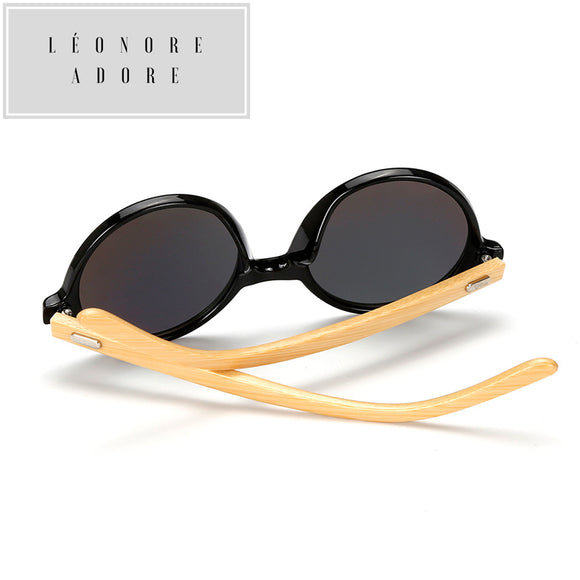 Bamboo-fashion round sunglasses. Elegance is in the consciousness of the material.