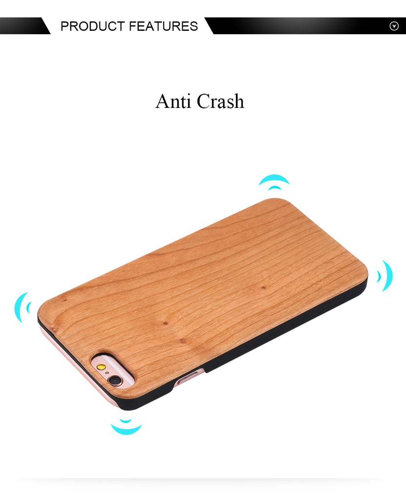 PhoneCase 100%  Natural Bamboo Cover pour Samsung et I-Phone