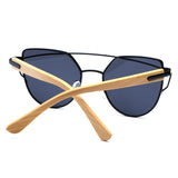 Sunglasses of bamboo wood, elegant, for her. The trend of summer 2019.