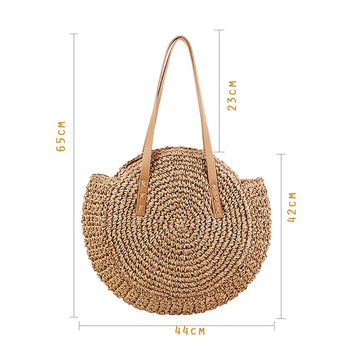 Sac de plage en paille durable.