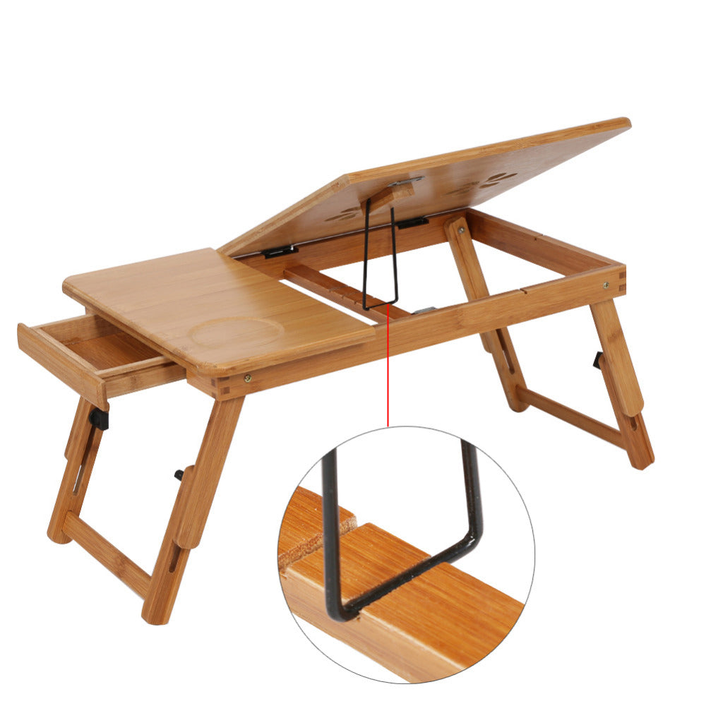 Table inclinable en bois de bambou, ou comment faire durer les moments allongés