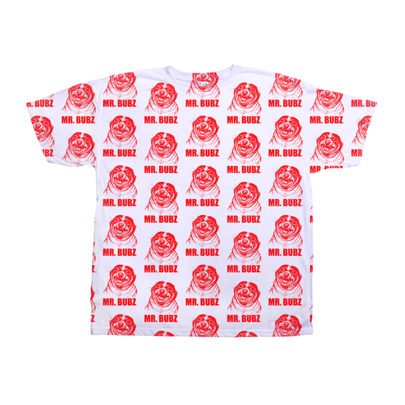 Mr. Bubz Sketch All Over Unisex Shirt (Red)