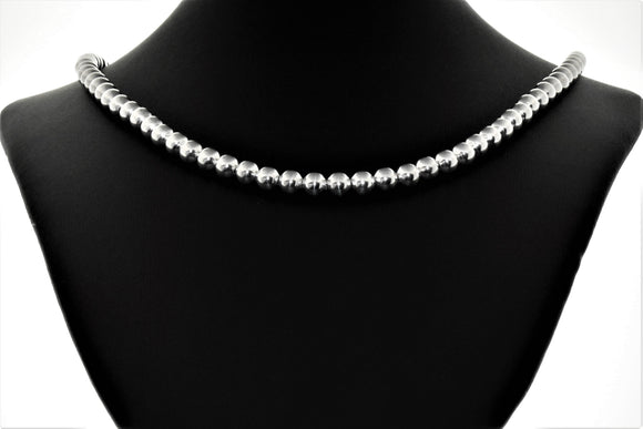 Sterling Silver 8mm Bead Necklaces