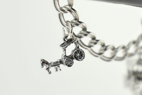 Sterling Silver Charleston Horse and Carriage Charm (small)