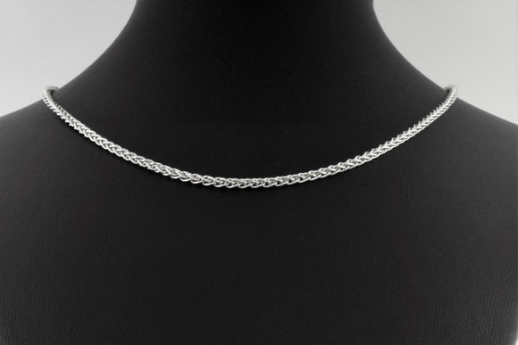 Sterling Silver Spiga Necklace