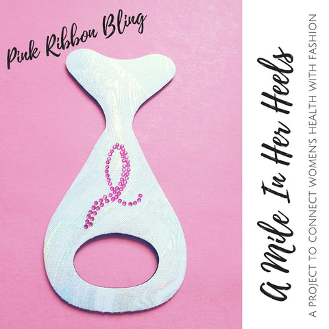 A Mile in Her Heels - Pink Studded on Silver