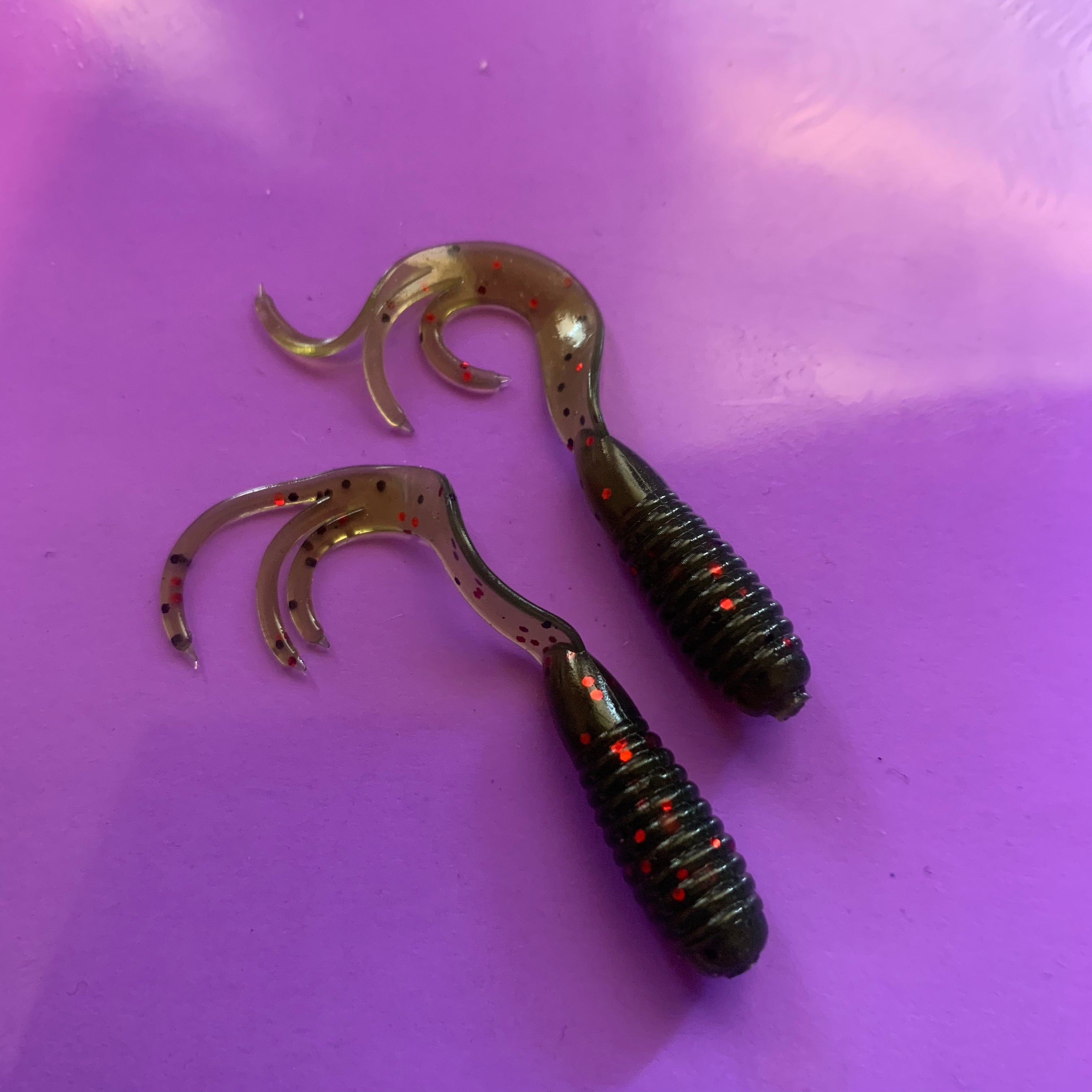 Curly Tri-Tail 38mm Grubs