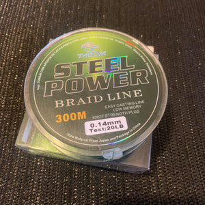 Braid 8 strand Pe Dyneema (Steel Power) Blue