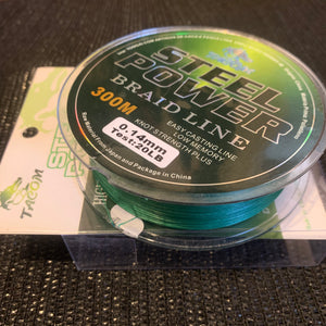 Braid 8 strand Pe Dyneema (Steel Power) Green