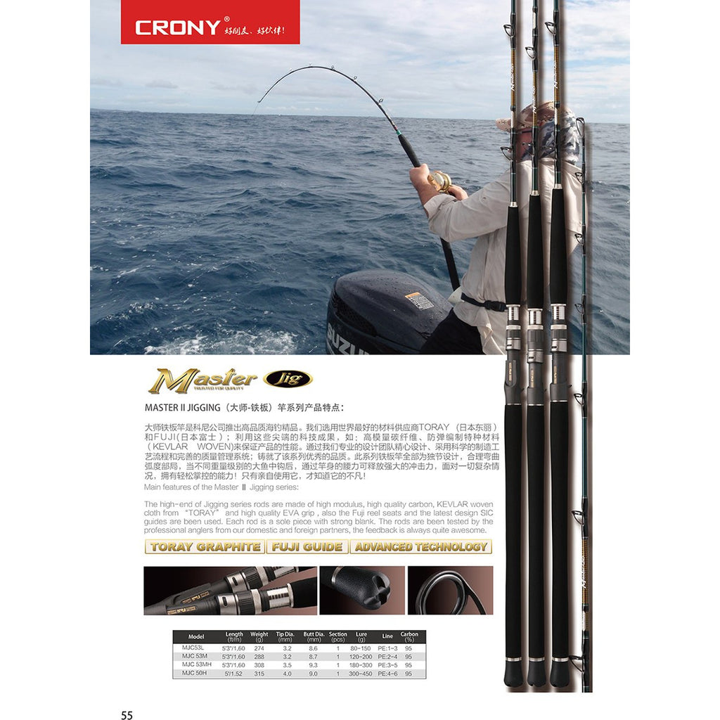 Crony Masters Series II Jigging rods (Outside)