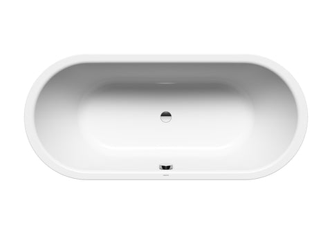 Kaldewei 01-1113-06W 1700mm Freestadning Meisterstuck Classic Duo Oval Bath with White Overflow