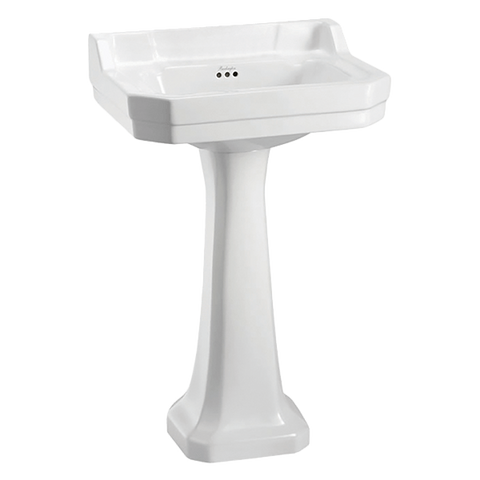 Burlington 13135 Edwardian 56cm 3 Tap Hole Basin & Pedestal