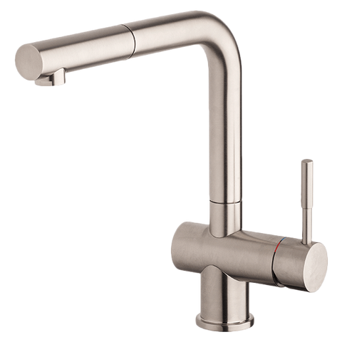 Gessi 13193BN Oxygene Brushed Nickel Sink Mixer with Pull-out
