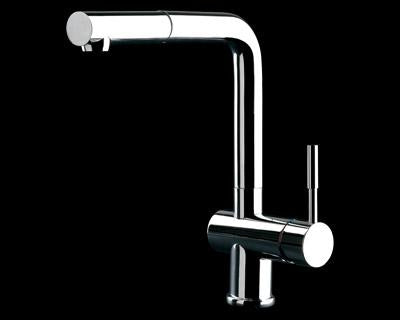 Gessi 13193 Oxygene Chrome Sink Mixer with Pull-out