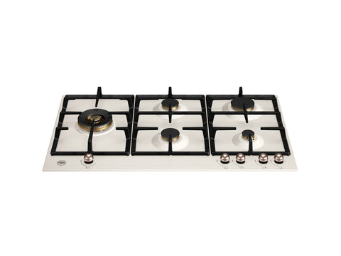 Bertazzoni P905LHERAC Heritage Series 90cm Avorio / Copper Gas Hob with Lateral Dual Wok