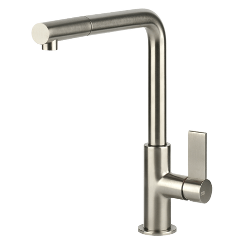 Gessi 17053BN Emporio Brushed Nickel Kitchen Mixer with Pull-out