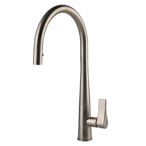 Gessi 17153BN Proton Concealed Brushed Nickel Kitchen Mixer with Pull-out
