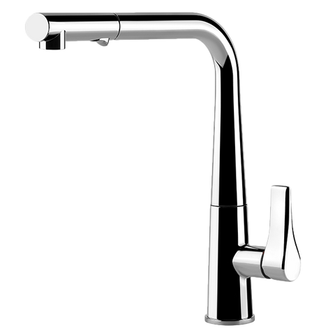 Gessi 17177 Proton Chrome Kitchen Mixer with Pull-out Dual Spray