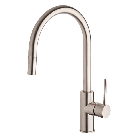 Gessi 20573BN Oxygene Chrome Gooseneck Sink Mixer with Pull-out