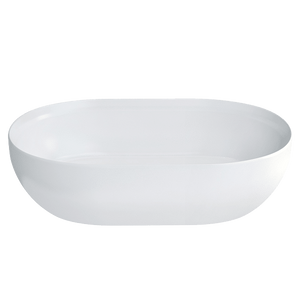Gareth Ashton 22697P Formosa 550mm Clearstone Gloss Basin with Chrome Plug & Waste