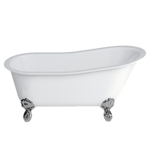 Gareth Ashton 22837F 750mm Romano Grande Clearstone Bath with Chrome Claw Feet