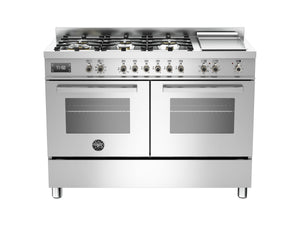 Bertazzoni PRO120 6G MFE D XT Professional Series 120cm 6-Burner + Griddle Electric Double Oven